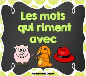 Des mots qui riment avec cochon, lapin et chapeau