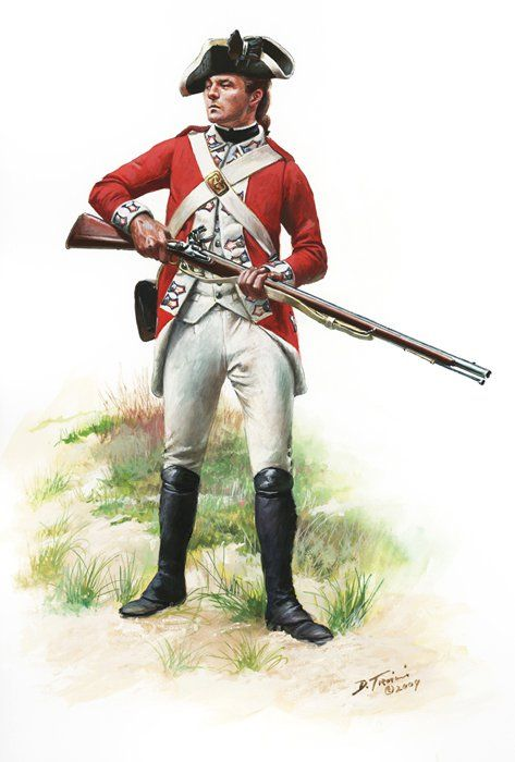 SOLDIERS- Troiani: AWI- Britain: British Marines, Private, 1776, by Don Troiani.