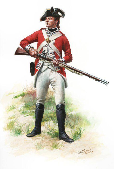SOLDIERS- Troiani: AWI- Britain: British Marines, Private, 1776, by Don Troiani.