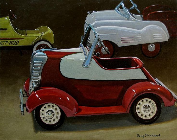pedal cars for sale | Toy Pedal Cars Painting - Toy Pedal Cars Fine Art Print