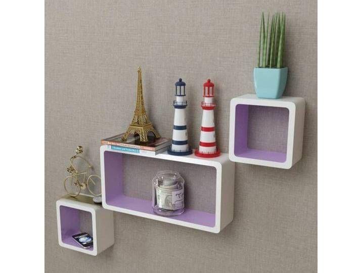 3 Tlg Wandregal Set Leisa In 2020 Display Shelves Cube Storage Shelves Floating Wall