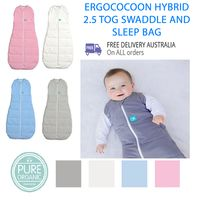 ergoPouch ergoCocoon Hybrid 2.5 TOG Swaddle Baby Sleeping Bag