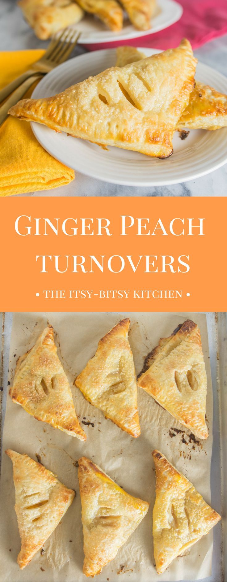 What do you serve for dessert when you're short on time? Ginger peach turnovers! They couldn't be a more simple dessert to prepare and they're just SO GOOD!