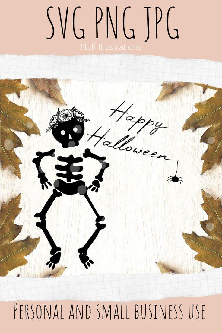 Halloween svg Skeleton svg Svg files for cricut Etsy in