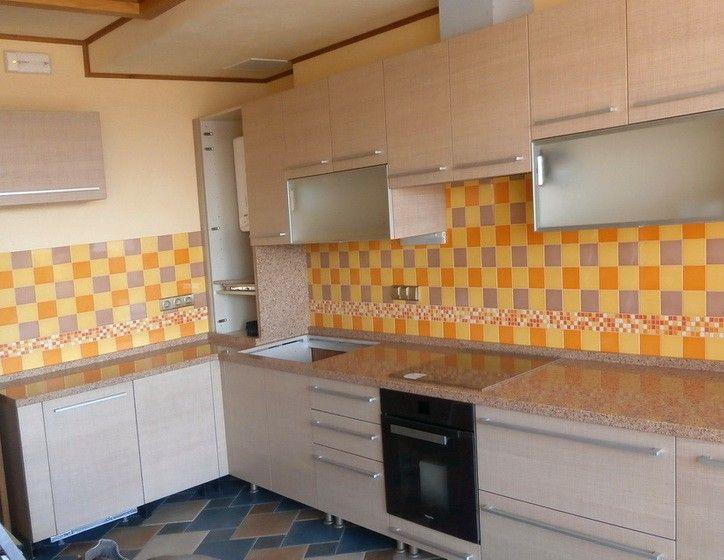 Проект №038. Кухонная столешница из кварцита SileStone Amarillo Palmira