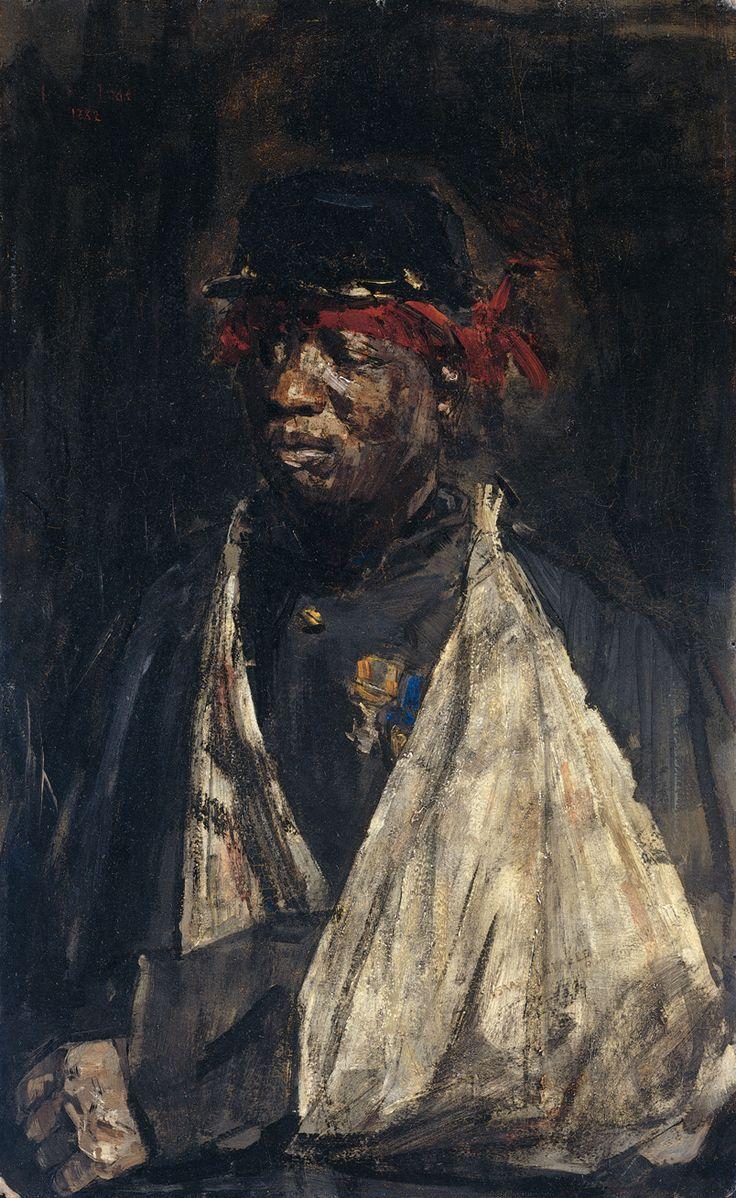 Isaac Lazarus Israëls (Dutch, 1865 - 1934) - Portret van gewonde KNIL-militair, 1882 - Rijksmuseum