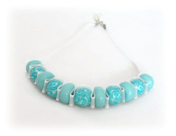 SALE Turquoise Bead Necklace 20 % Off Gift for by Lottieoflondon