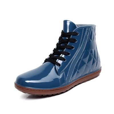Lace Up Men Pvc Rain Boots Ankle Waterproof Fashion rubber Short Rainboots Solid Casual Slip Breathable Water Shoes Botas Male - http://bootsportal.net/?product=lace-up-men-pvc-rain-boots-ankle-waterproof-fashion-rubber-short-rainboots-solid-casual-slip-breathable-water-shoes-botas-male