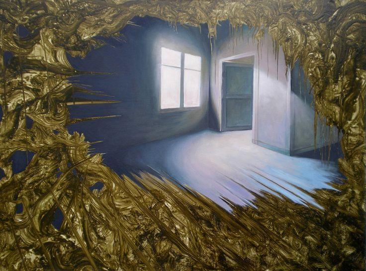 "Saatchi Art Artist: Vauney Strahan; Oil 2011 Painting ""Veneer II"""
