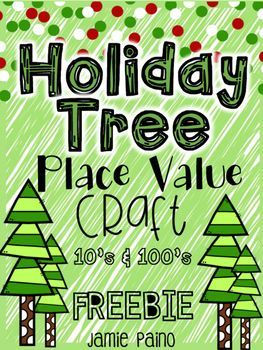 Your kiddos will LOVE creating a place value Christmas tree using paper trees and ornaments! This FREEBIE is an awesome and easy whole group, small group, math station, or individual activity! This FREE Christmas activity is NO PREP, just PRINT and GO!