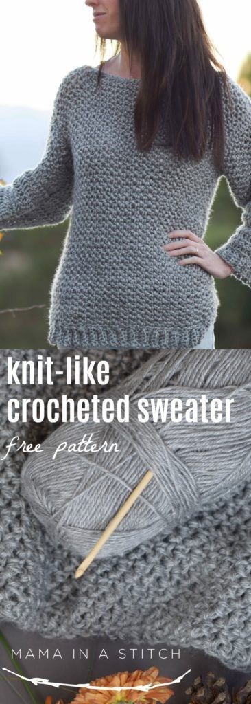 This is an easy crochet pattern and free tutorial on how to make a beautiful crocheted sweater! #crafts #diy