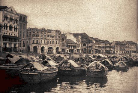 Bumboats used to ply the Singapore River
