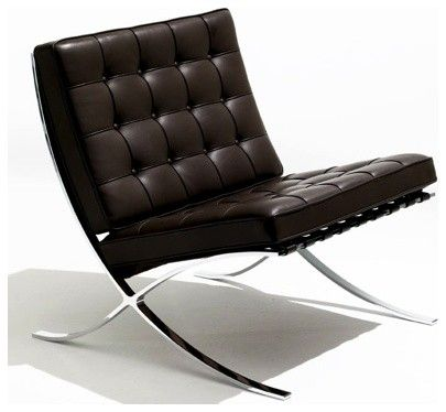 Barcelona chair by Mies van de Rohe (by nestliving)