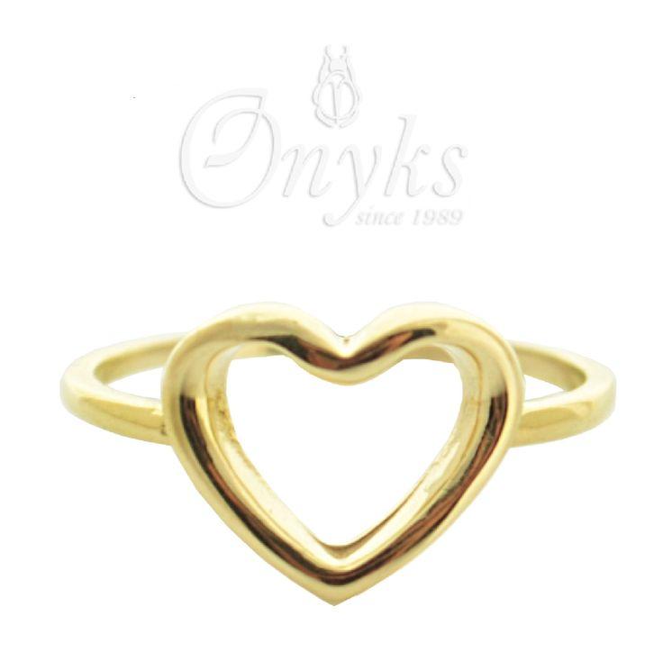 Gold Heart Ring by MyOnyks on Etsy