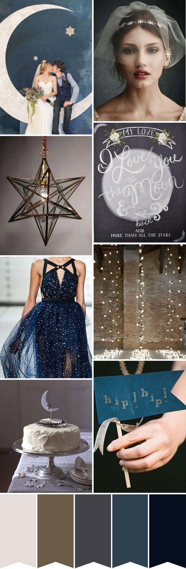Star-and-Moon-Wedding-Inspiration. Read More - http://onefabday.com/love-moon-starry-night-wedding-inspiration/