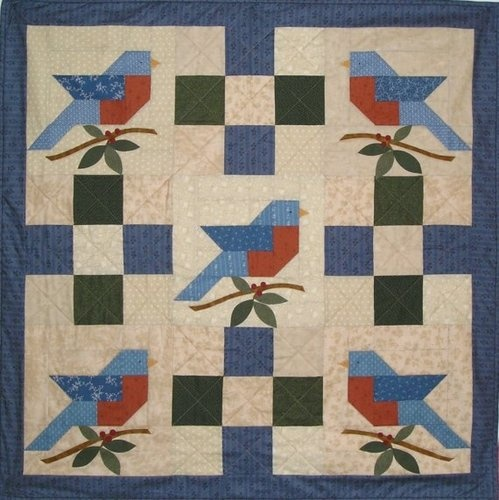 108 best Birds - Paper Pieced Foundation images on Pinterest ... : bird quilt pattern - Adamdwight.com