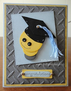 Indiana Inker - Electrician's Graduation Card  Stampin' Up!