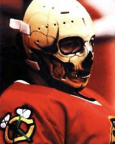 Warren Skrodenski skull goalie mask