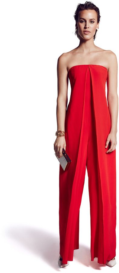 $175, Cédric Charlier Cedric Charlier Origami Jumpsuit. Sold by Rent The Runway. Click for more info: https://lookastic.com/women/shop_items/340499/redirect
