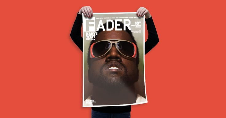 """Kanye West / The FADER Issue 58 Cover 20"""" x 30"""" Poster - The FADER - 2"""