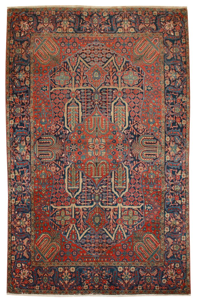 Cod. 886 Kashan Antico 200x127 tappeto persiano antique rug,