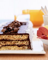 triple-layer chocolate macaroon cake #glutenfree
