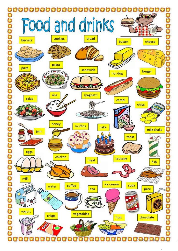 Food And Drinks Worksheet Free Esl Printable Worksheets