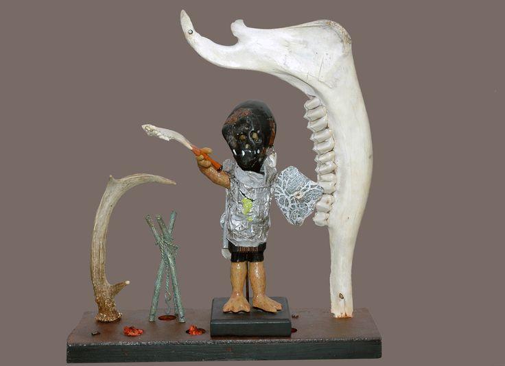 Le guerrier Fidabor dans son élément. Une création de l'artiste Quinze.