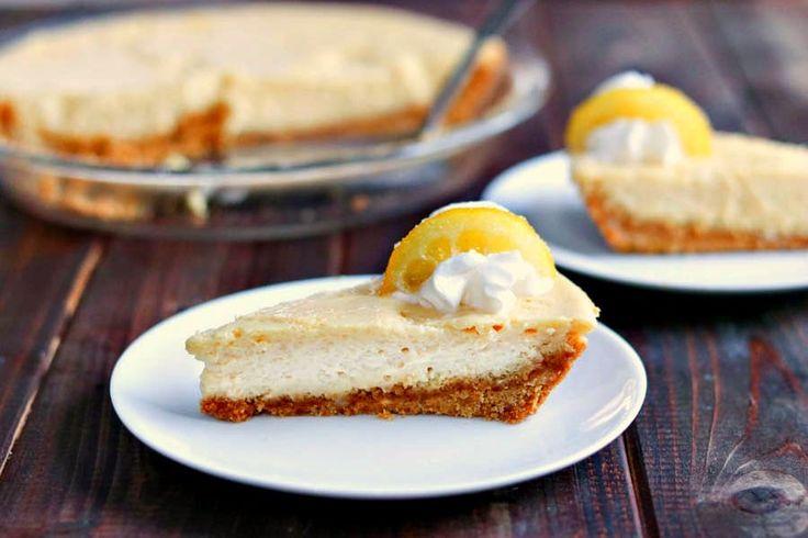 Creamy Lemon Pie with Candied Lemon Slices via @kyleecooks