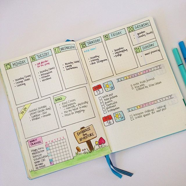 New Blog Post: 'Dutch Door Ideas for your Bullet Journal'. Showing how to make…