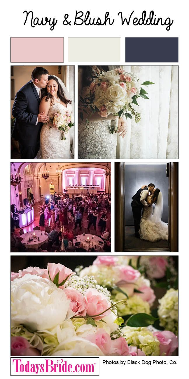 These High School Sweethearts Tied The Knot In One Of Most Elegant Beautiful Ways Possible With Soft Colors Navy And Blush At