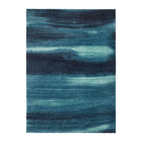 IKEA SÖNDERÖD Rug, high pile Blue 170x240 cm The dense, thick pile dampens sound and provides a soft surface to walk on.