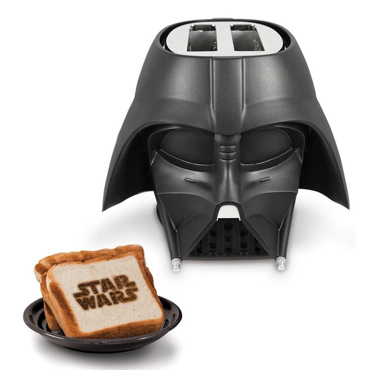 If you thought that (spoiler!) Anakin Skywalker's head was under Darth Vader's helmet... NOPE! There's a toaster under there!