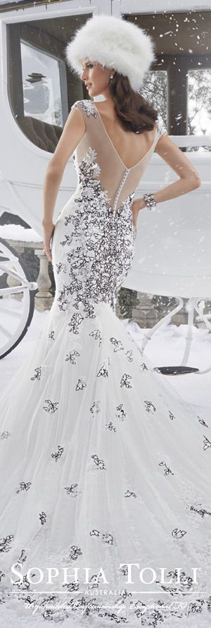 The Sophia Tolli Fall 2015 Wedding Dress Collection - Style No. Y21507 sophiatolli.com #weddingdresses #weddinggowns