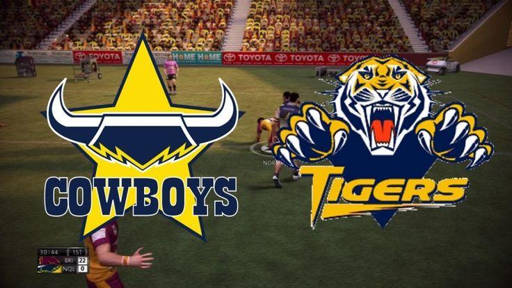 Stream / Watch NRL Tigers vs Cowboys With Live Score From MatchCenter #NRL #NRLTigersCowboys #WestsTigers #NothQuenslandCowboys