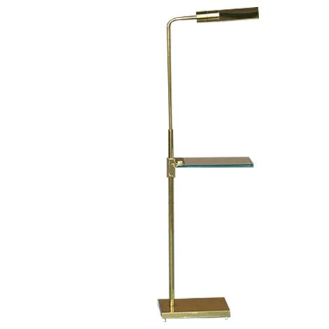 Captivating Brass Floor Lamp By Casella With A Glass Shelf On Chairish.com Good Looking