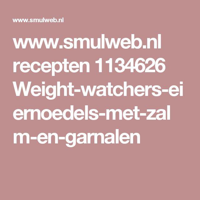 www.smulweb.nl recepten 1134626 Weight-watchers-eiernoedels-met-zalm-en-garnalen