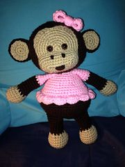 I made the blue version, free on Ravelry.com - Jake the Playful Monkey pattern by Ebeliz Rodriguez