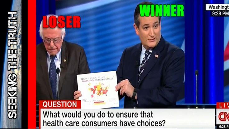 Ted Cruz DISTROYS Bernie Sanders on Obamacare CNN Debate