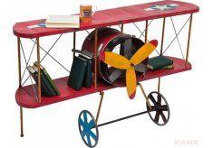 Air Plane Konsola Czerwona Żelazo 140x81x49cm