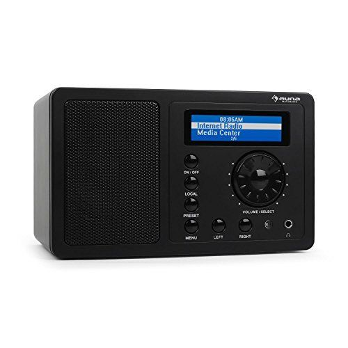 auna IR-130 Radio internet WiFi ultra compact avec surface soft-touch (écran LCD couleur, sortie casque, sleep timer, réveil) – noir:…