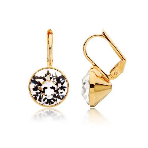 Bella Drop Earrings with Clear Swarovski® Crystals Gold Plated