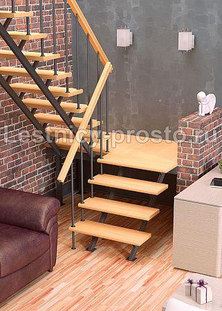 Лестница на стальном каркасе ЛЕС-06 - купить в Москве - Мегамаркет лестниц