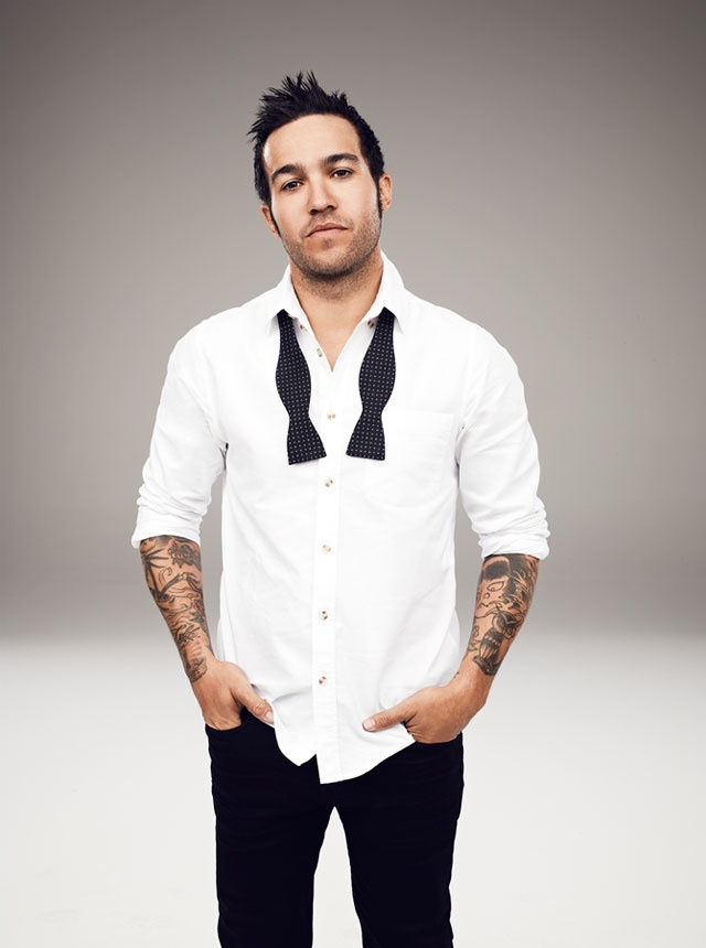 Pete Wentz. I thought he couldn't get any more good looking, but when he puts on a dress shirt...look out.