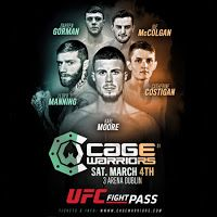MMA CAGEWORLD : Cage Warriors 81 RESULTS 4th MARCH 2017