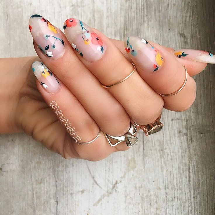 """4,293 Likes, 62 Comments - Nina Park. Nail Art. Boston. (@ninanailedit) on Instagram: """"Florals and negative space. You know the drill  I used my fave  @pearnova, @smithandcult, and…"""""""