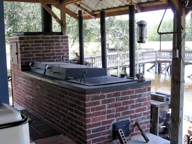Awesome brick grill