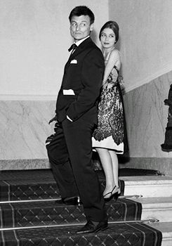 Andrei Tarkovsky with his wife Irma Raush at the Venice Film festival, 1962, where he won the Golden Lion award for Ivan's Childhood.