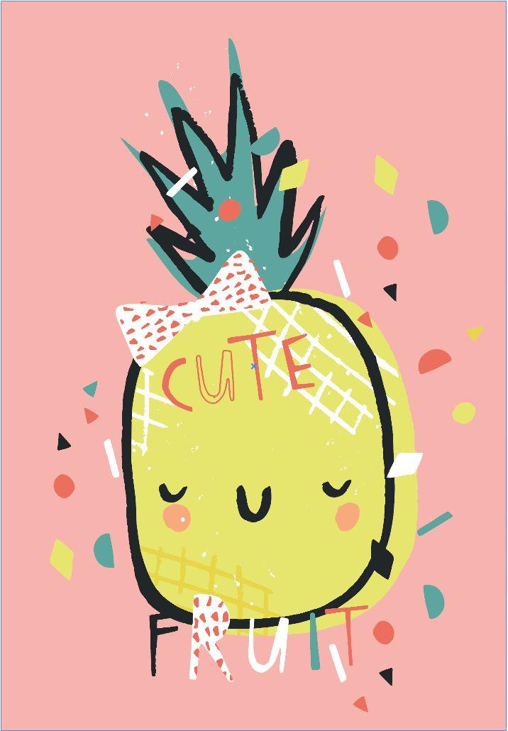 Design by BettyjoyDesignStudio Designer Lucia WIlkinson #cute #pineapple #placement #tropical