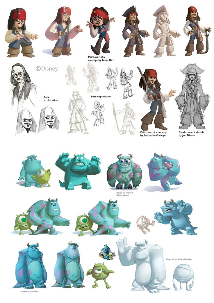 Disney infinity character development.  These talented fellas!